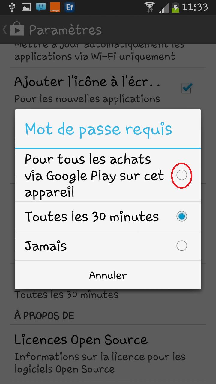 Installer la mise à jour Play Store 4.6.16 sur votre Android.