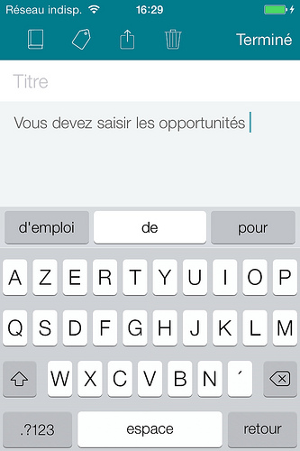 Swiftkey, choisissez un clavier plus efficace pour votre iPhone 4 et iPhone 5.