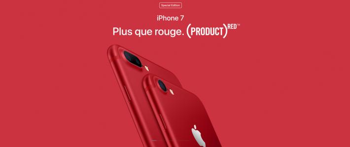 Apple «INVENTE» la couleur rouge pour la bonne cause et ses Iphone
