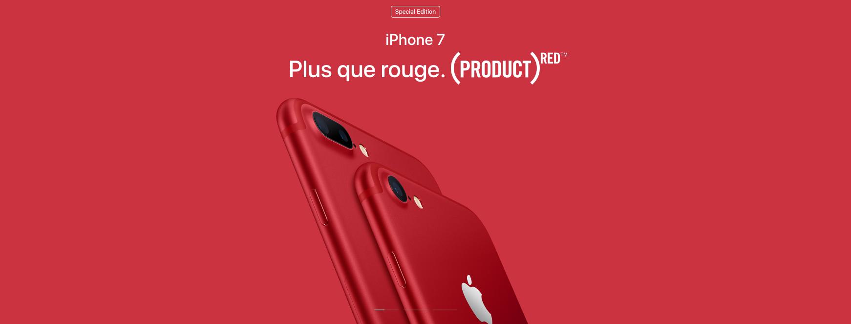 apple invente la couleur rouge pour la bonne cause et ses iphone. Black Bedroom Furniture Sets. Home Design Ideas