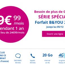 B&you fête Noël avec un forfait 20Go à moins de 10€