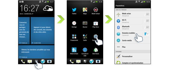 HTC One 4G etape 1