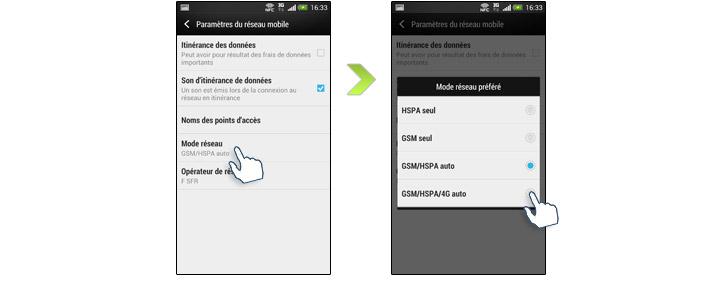 HTC One 4G etape 2