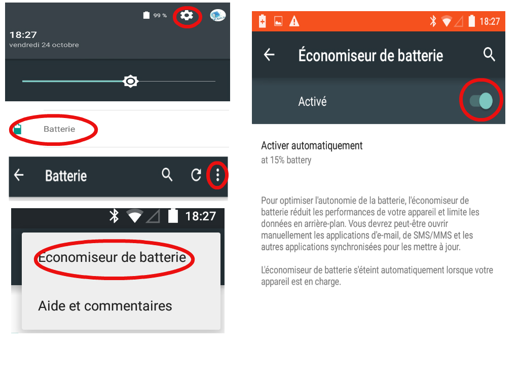 Lollipop economiseur batterie