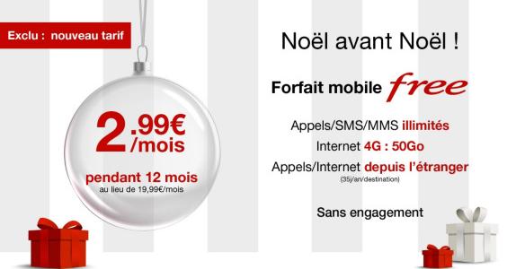 Le forfait mobile Free à seulement 2,99€/mois au lieu de 19,99€/mois