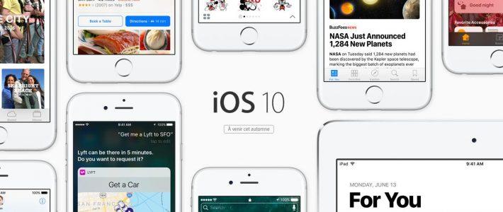 Retrouvez toutes les nouveautés d'iOS10 sur iPhone et iPad