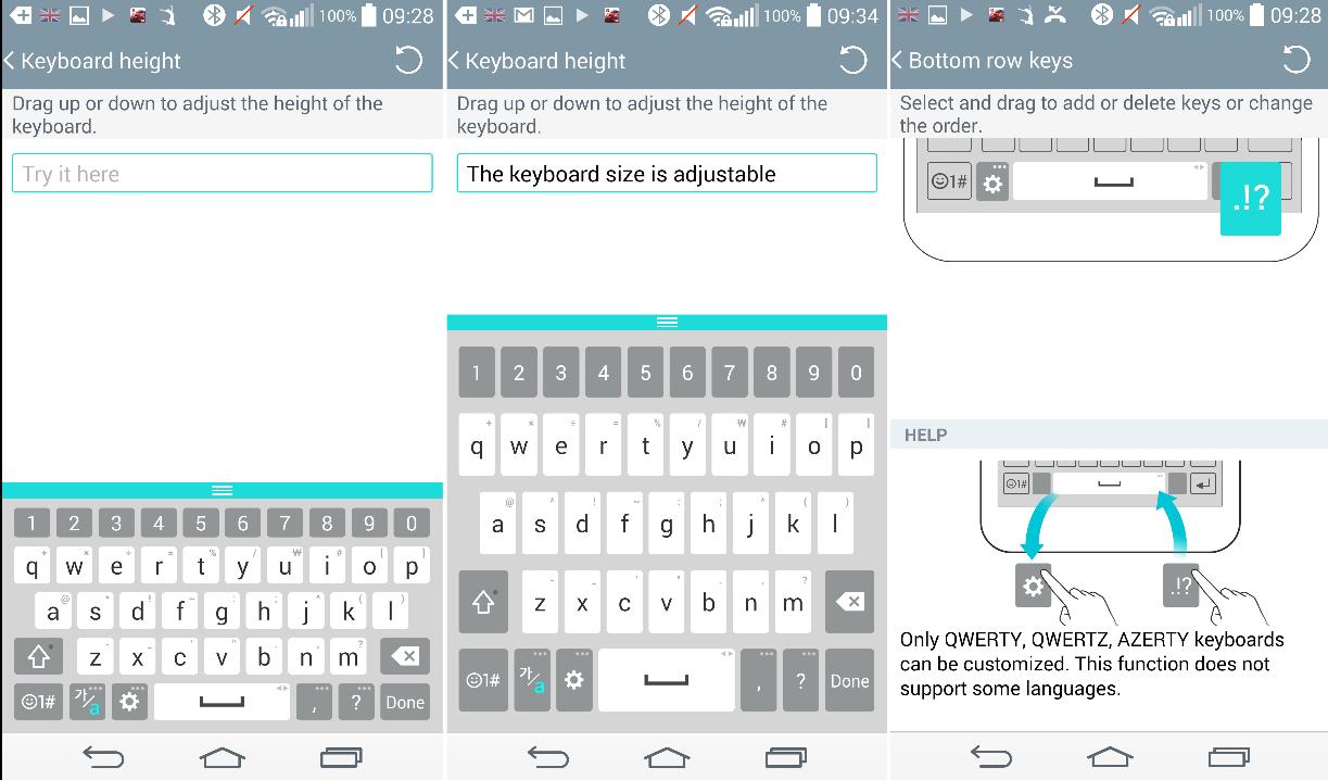 Télécharger le clavier LG G3  qui se rétracte, se développe et apprend !