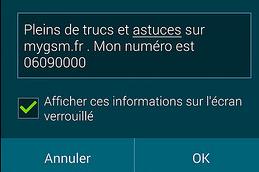 Comment ajouter un texte sur la page de déverrouillage sur Samsung S5?