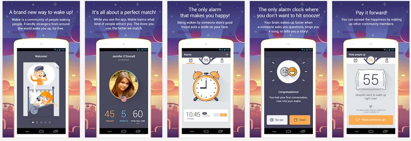 Wakie et Jukast, les applications «réveil matin» se branchent aux réseaux sociaux.