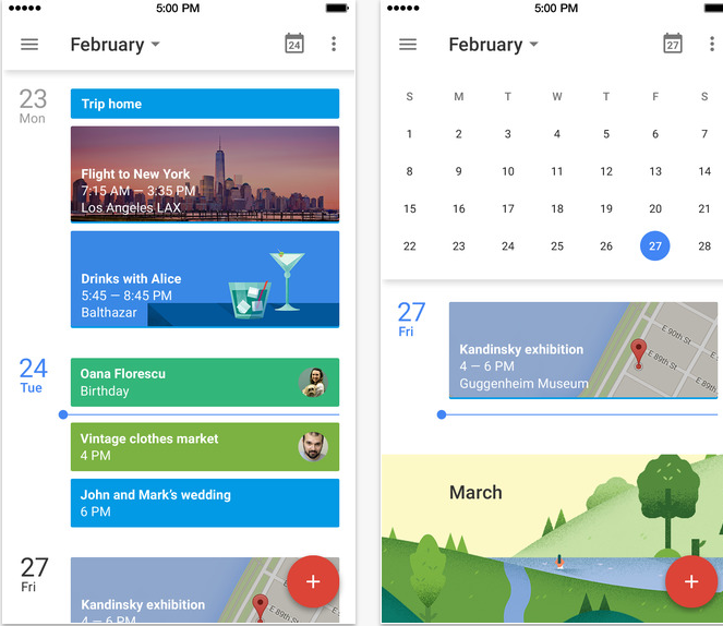 Google Agenda iphone