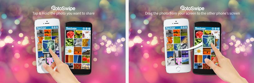 FotoSwipe, Glisser et coller vos photos d'un téléphone à l'autre en un clin d'oeil!