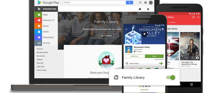 Google annonce The Family Library pour partager vos achats à toute votre famille.
