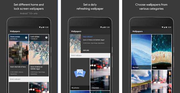 Google lance l'application fond d'écran des PIXEL pour tous sur le play store