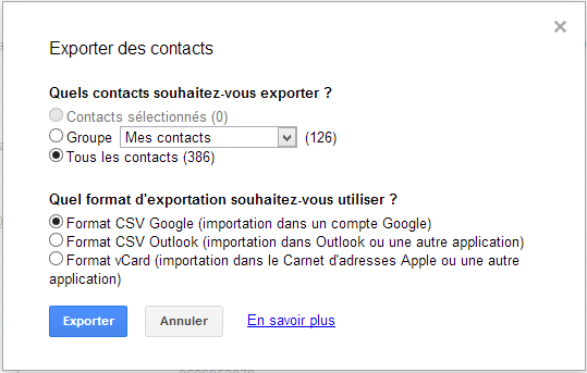 IMPORTER VOS CONTACTS DE OUTLOOK A VOTRE MOBILE ANDROID SOUS FORME CSV