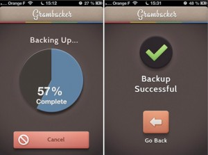 gGramback : Sauvegardez vos photos Instagram sur Dropbox.