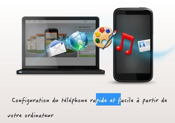 Configurer votre HTC facilement à partir de votre ordinateur