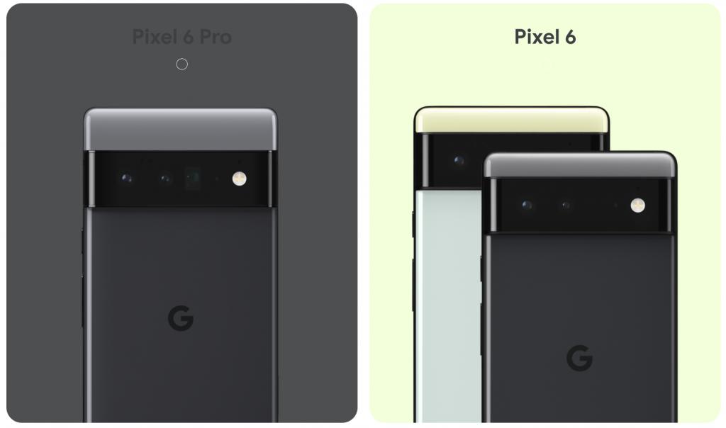 Visuels des Pixel 6 et 6 Pro