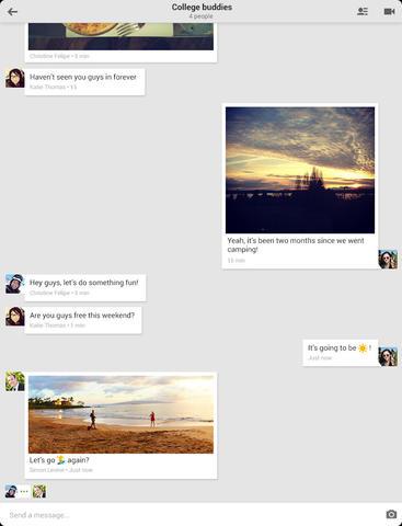 Mise à jour Hangouts disponible sur IOS7
